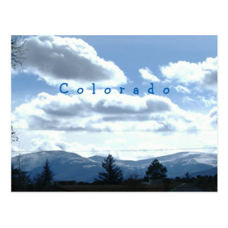 Sonnige Colorado-Mountain View Postkarten