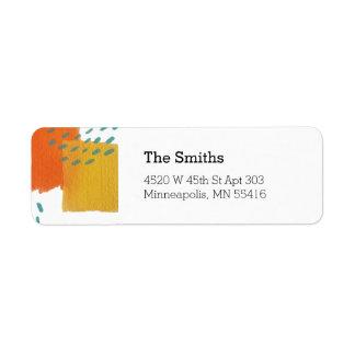 Sonnige gemalte Adressen-Etiketten