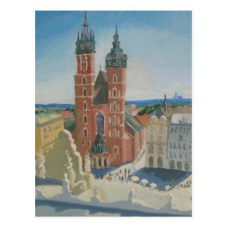 Sonnige Krakau-Kathedrale Postkarte
