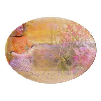 Sonnige Momente Porzellan Servierplatte
