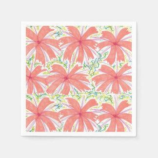 Sonnige tropische Blumen-Papierservietten Servietten