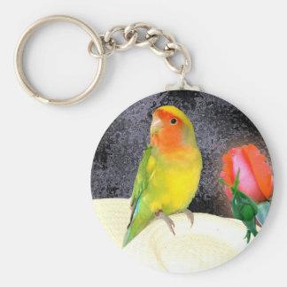 Sonniger Lovebird Schlüsselanhänger