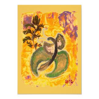 Sonniger Schmetterling, Kunstacrylmalereikarte Karte