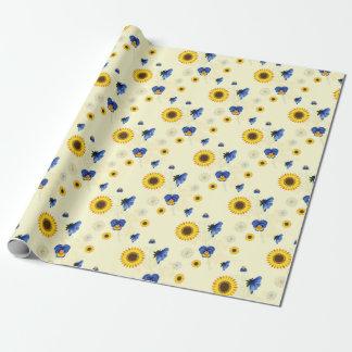 sonniges Blumen Einpackpapier