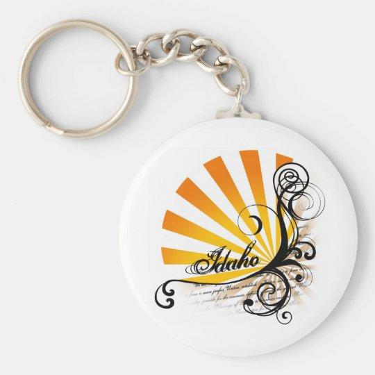 Sonniges grafisches Mit Blumenidaho Keychain Schlüsselanhänger