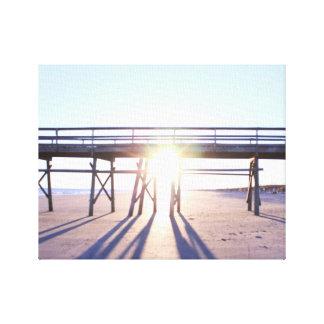Sonniges Strand-Foto Leinwanddruck