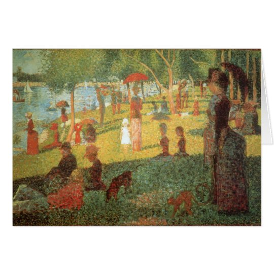 Sonntag Nachmittag durch Georges Seurat Karte