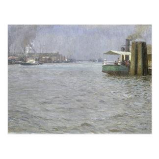 Sonntags-Atmosphäre auf der Elbe Postkarte