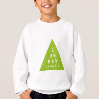 Sonntags-Versammlungs-Dreieck dunkelgrün Sweatshirt