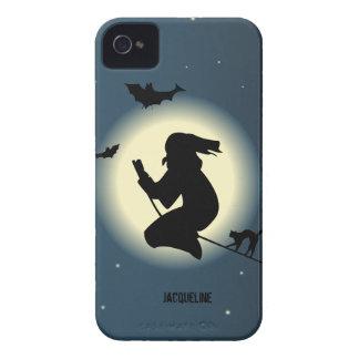 Sorcière mignonne de Halloween dans le cas de Blac Coques iPhone 4 Case-Mate