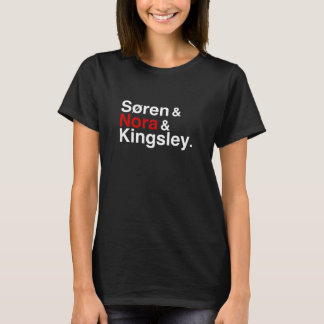Søren u. Nora u. Kingsley (Schwarzes) T-Shirt