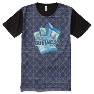 Sorgfalt der Geschäftsmarine allen DruckT - Shirt