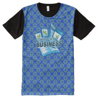 Sorgfalt des Geschäftsblaus allen DruckT - Shirt