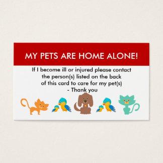 Sorgfalt für meine Haustier-Informationen für Visitenkarte
