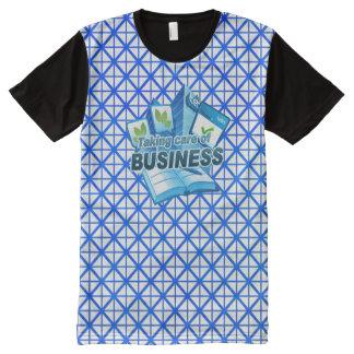 Sorgfalt von Geschäftsweiß allen DruckT - Shirt