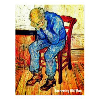 Sorrowing alter Mann durch Van Gogh Postkarte