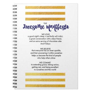 Sorta fantastisches Manifest-gewundenes Notizbuch Spiral Notizblock