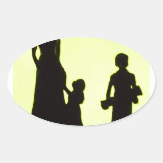 sortie de famille sticker ovale