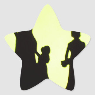 sortie de famille autocollant en étoile