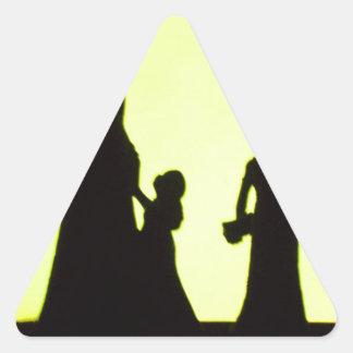sortie de famille stickers en triangle