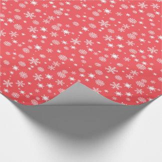 Sortierte Schneeflocken Geschenkpapier