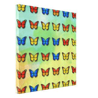 Sortiertes Schmetterlingsmuster Leinwanddruck