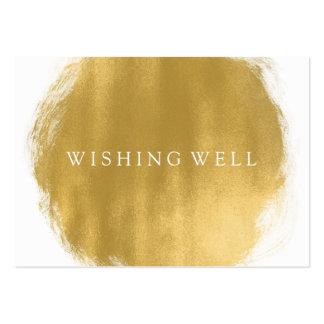 Souhait du regard bon de peinture d'or carte de visite grand format