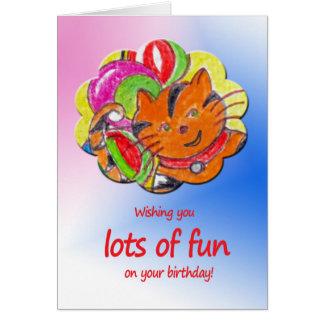 Souhaits d'anniversaire pour un enfant carte de vœux