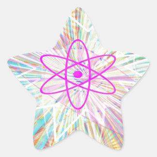 Soul-Power: Sonnenenergie-künstlerischer Entwurf Stern-Aufkleber