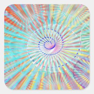 Soul-Power - Sonnenenergie Quadratischer Aufkleber