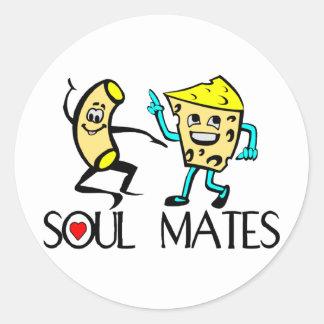 Soul verbindet beste Freunde Runder Aufkleber
