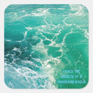 Soule des Meeres 2 Quadratischer Aufkleber