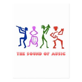 SOUND OF MUSIC Ton der Musik Postkarte