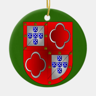 Sousa Familien-Wappen Weihnachtsverzierung Rundes Keramik Ornament