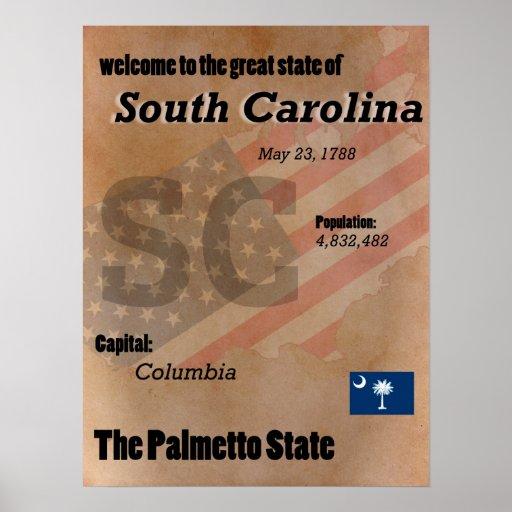 South Carolina der Palmetto-Staats-Klassiker Poster