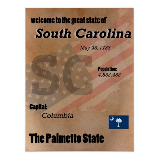 South Carolina der Palmetto-Staats-Klassiker Poster