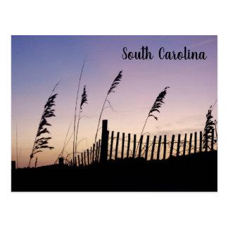 South- Carolinasonnenuntergang auf den Sanddünen Postkarte