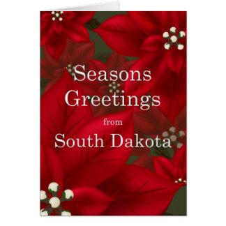 South- Dakotapoinsettia-Frohe Festtage Karte