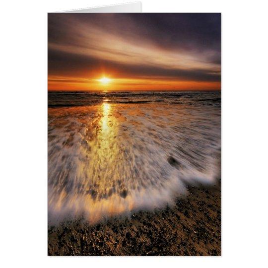 Southwold Strand-Sonnenaufgang 8. Mitteilungskarte