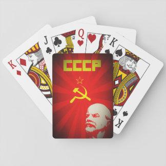 sowjetische kommunistische Propaganda Vintages f Spielkarten