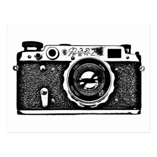 Sowjetische russische Kamera - Schwarzes Postkarten