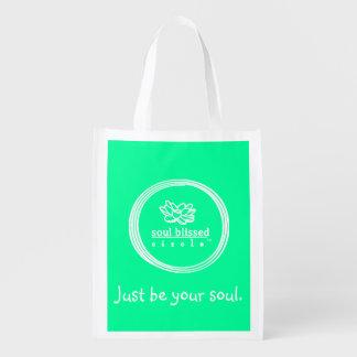 Soyez juste votre âme. Sac de Reusuable Sacs D'épicerie Réutilisables