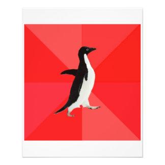 Sozial fantastisches Penguin-Ratetier Meme Flyerdruck
