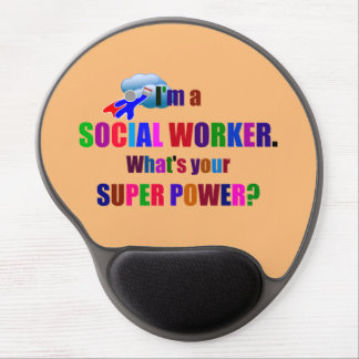 Sozialarbeitersuperhero-Spaß Gel Mouse Pads
