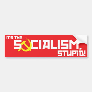 Sozialismus dumm - Rot Autoaufkleber