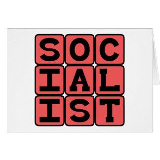 Sozialist, politische Zugehörigkeit Grußkarte