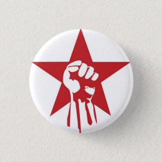 Sozialistischer Faust-Knopf Runder Button 3,2 Cm