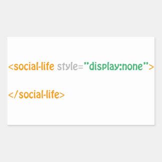Sozialleben - Richtlinie Rechteckiger Aufkleber