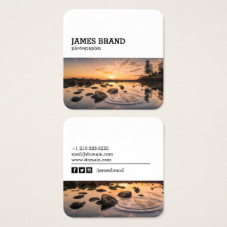 Sozialmedium-Fotografie-Fotograf Quadratische Visitenkarte