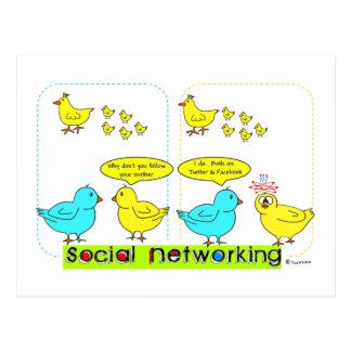 Sozialvernetzung Postkarten